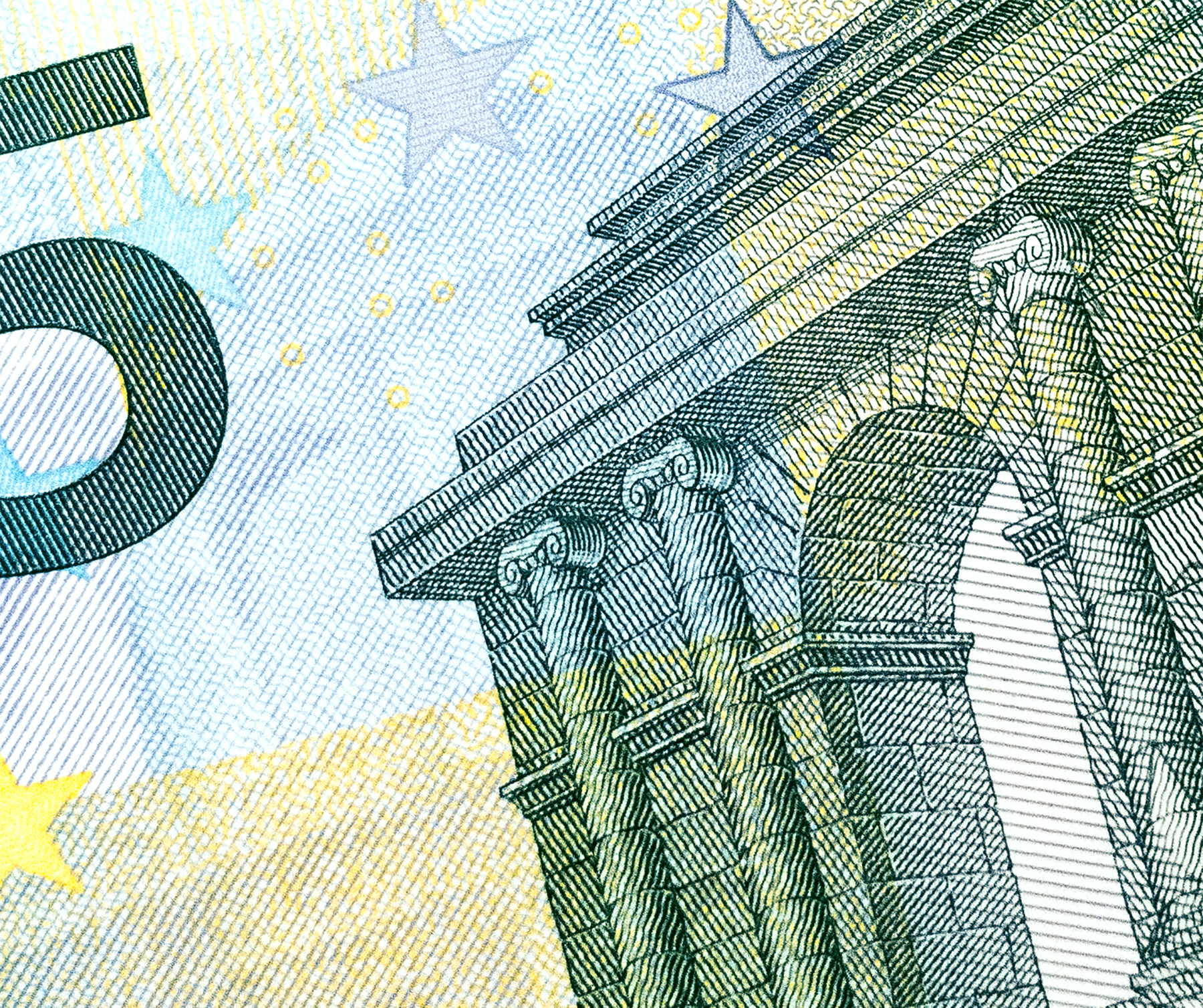 Five euro note close-up